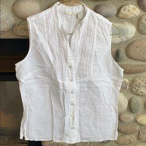 Tweeds dressy linen tank